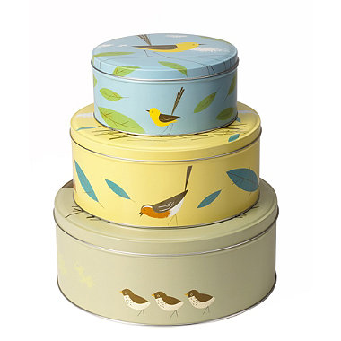 3 magpie birdy cake tins in cake storage at lakeland. Black Bedroom Furniture Sets. Home Design Ideas