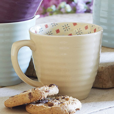 Paisley Mug Cream
