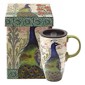 Proud Peacock Travel Mug