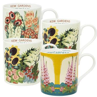 Kew Gardens Set of 4 Mugs