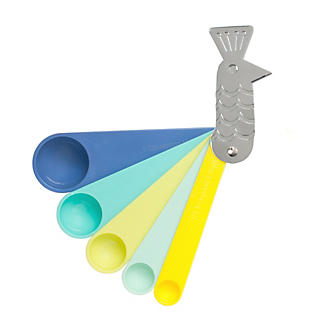 Peacock 5 Plastic Measuring Spoons Set