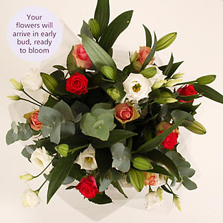Lily and Rose Bouquet with free express delivery alt image 3
