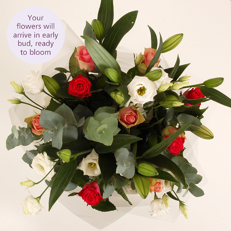 Lily and Rose Bouquet with free express delivery