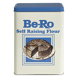 Be-Ro Retro Airtight Food Storage Gift Tin - Self Raising Flour