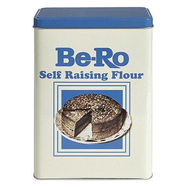 Be-Ro Retro Airtight Food Storage Gift Tin - Self Raising Flour
