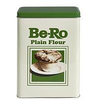 Be-Ro Retro Airtight Food Storage Gift Tin - Plain Flour
