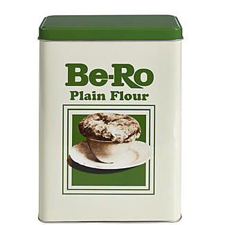 Be-Ro Retro Airtight Food Storage Gift Tin - Plain Flour