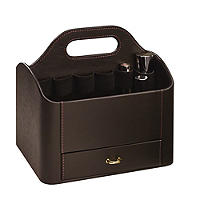Brown Make Up Caddy
