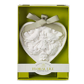 Floral Lily Scented Clay Heart