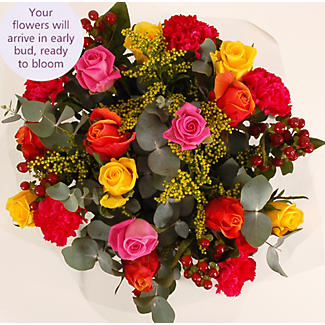 Vibrant Rose Bouquet With Free Express Delivery alt image 3