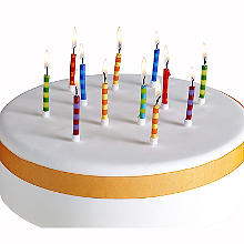Birthday Stripe Candles