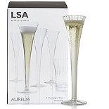 LSA Aurelia Champagne Flutes