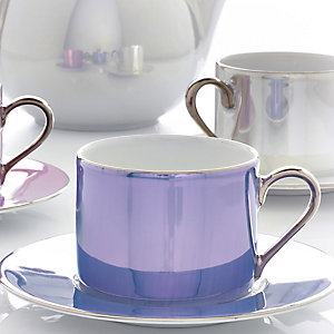 LSA Polka 4 Tea Cups and Saucers