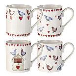 Love Birds 4 Fine China Mugs