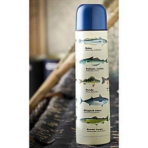 Gone Fishing Stainless Steel Flask