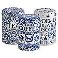 Emma Bridgewater Blue Hen Tea, Coffee and Sugar Caddies