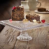 Square Glass Cake Stand