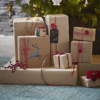 Brown Paper Gift Wrap Roll