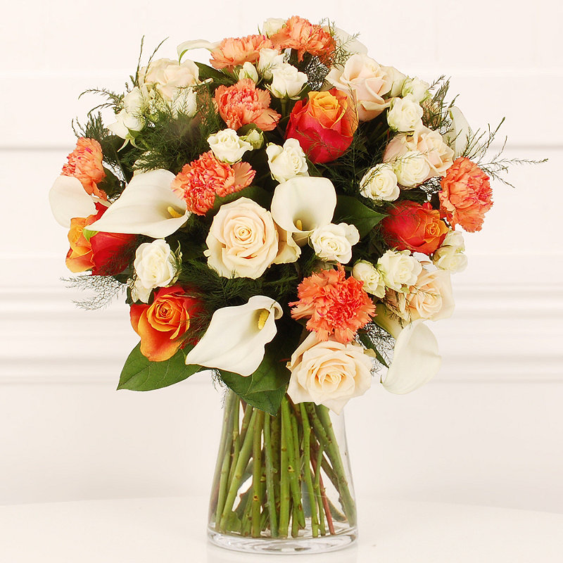 Peaches and Cream Bouquet With Free Express Delivery