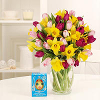 Easter Bouquet Gift Box With Free Express Delivery