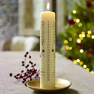 Advent Tree Pillar Candle
