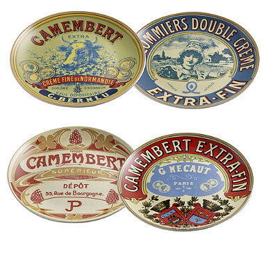 4 Camembert Cheese Serving Plates