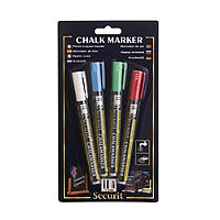 4 Securit Liquid Chalk Notice Board Marker Pens