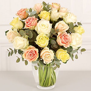 Summer Roses Bouquet with Free Express Delivery