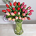 Spring Tulips Bouquet With Free Express Delivery