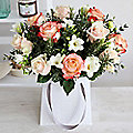 Rose and Freesia Gift Bag Bouquet With Free Express Delivery