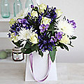 Agapanthus and Freesia Gift Bag Bouquet With Free Express Delivery
