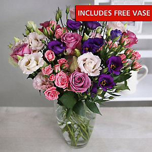 Rose and Lisianthus Bouquet With Free Express Delivery