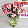 Fringed Tulips Bouquet With Free Express Delivery