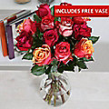 Latin Fire Rose Bouquet With Free Express Delivery
