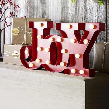 Light Up Joy Decoration