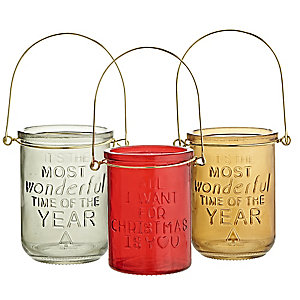 Christmas Cheer Lantern Trio