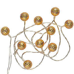 Copper Bauble Lights