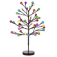 Light Up Colour Bauble Tree