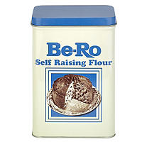 Be-Ro Retro Airtight Food Storage Gift Tin - Small Self Raising Flour