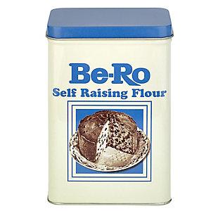 Be-Ro Retro Airtight Food Storage Gift Tin - Small Self Raising Flour
