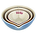 Be-Ro 3 Nesting Ceramic Measuring Bowl Cups Gift Set