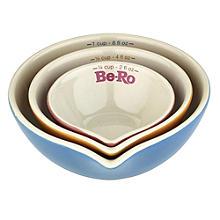 Be-Ro 3 Nesting Ceramic Measuring Bowl Cups Gift Set