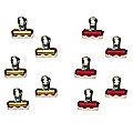 10 Spare Braid Card Clips