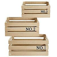 Set of 3 Rustic Crates