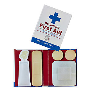 First Aid Sticky Note Book
