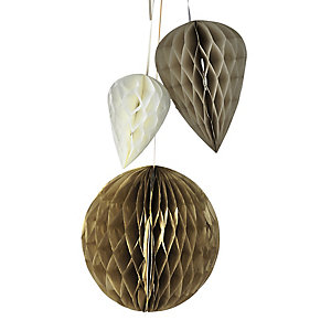 5 Fold-Out Honeycomb Decorations