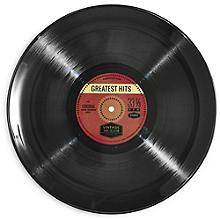 Retro Music LP Unbreakable Melamine Serving Plate