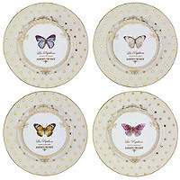 Elegance 4 Porcelain Cake Side Plates Set - Gift Boxed