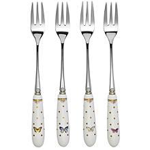 Elegance 4 Porcelain Handle Pastry Forks - Gift Boxed