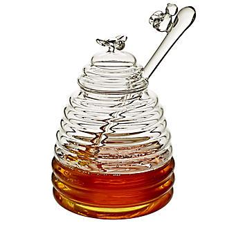 Glass Honey Pot with Dipper